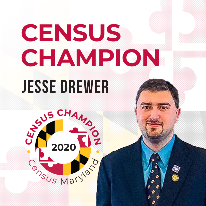 Jesse Drewer, Maryland Census Champion