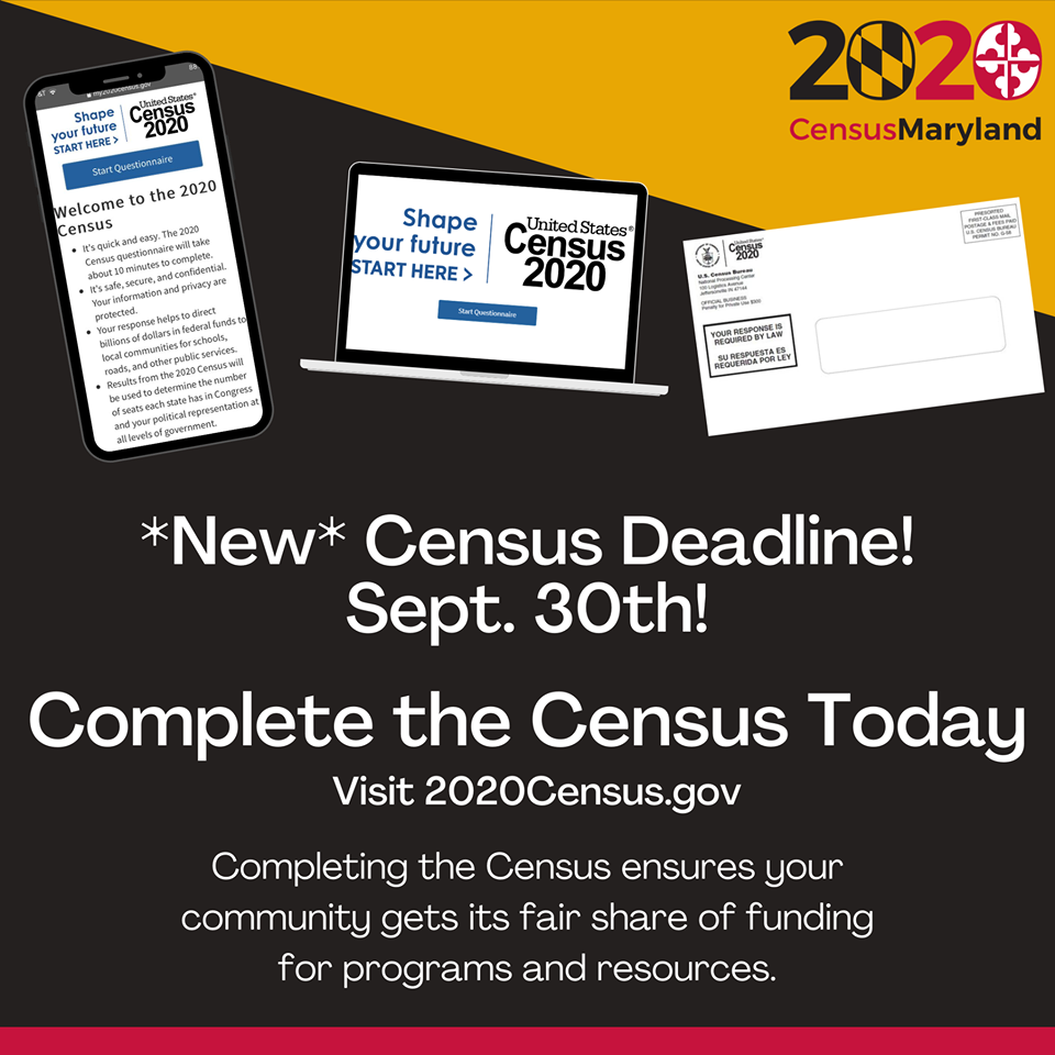 The NEW Census Deadline is September 30