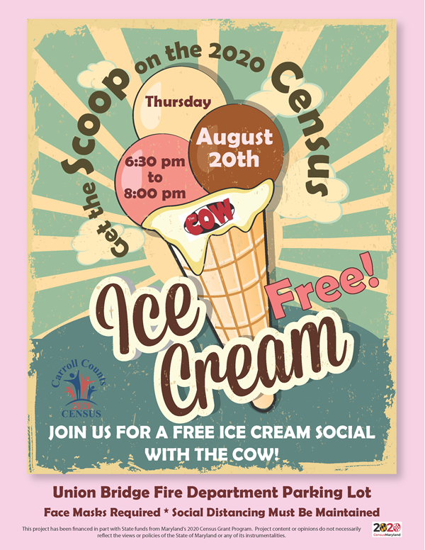 Carroll Counts! Invites Local Residents to Ice Cream Social