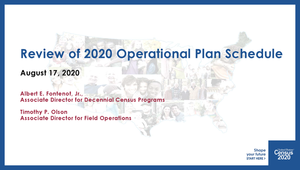 Review of 2020 Census Operational Plan