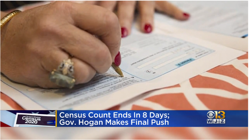 Hogan Makes Final Push For Marylanders To Fill Out Census Ahead Of September 30 Deadline