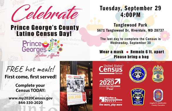 Prince George's County Latino Census Day Tuesday, September 29