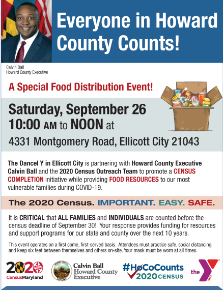 Everyone in Howard County Counts!  A Special Food Distribution Event!