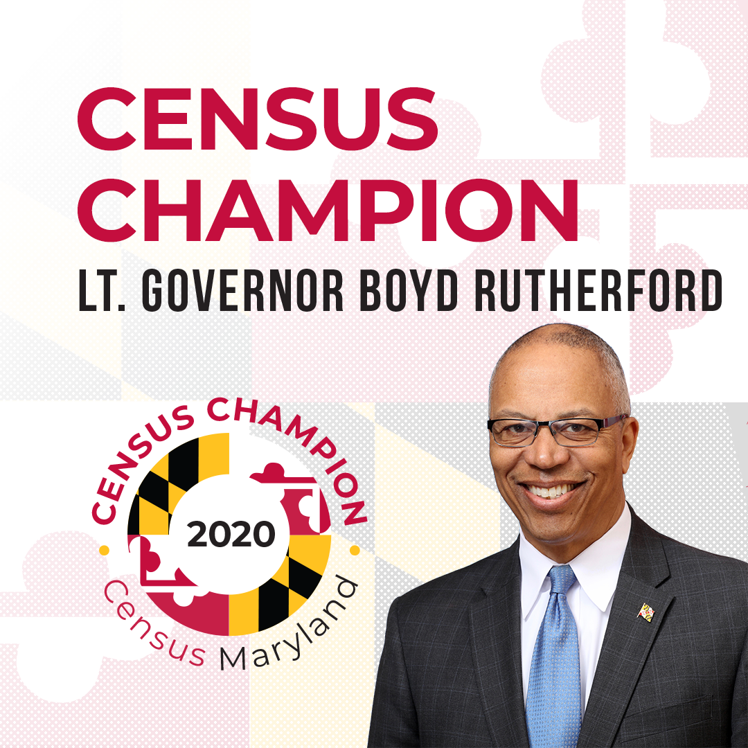 Census Champion Lt. Governor Boyd Rutherford