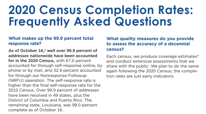 2020 Census Frequently Asked Questions