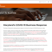 Maryland's COVID-19 Business Response