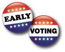 early voting buttons