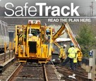"maintenance equipment with the words ""Safe Track"""