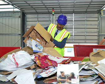 ike at recycling facility