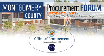 Montgomery County Procurement Forum Set for October 5; Showcases Public and Private Sector Contract Opportunities