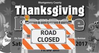 thanksgiving parade road closure