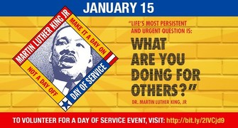 Martin Luther King Jr. Day Holiday a day ON, not a day off!