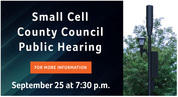 small cell county council public hearing