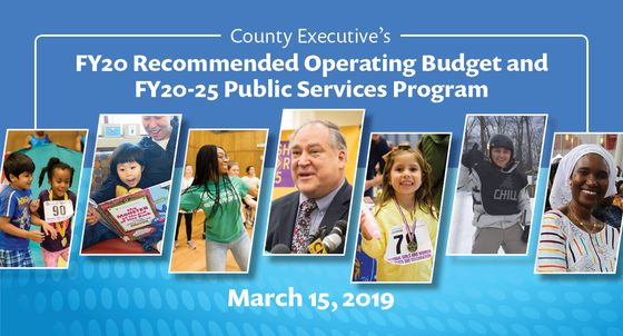 FY20 Recommended Operating Budget and FY20-25 Public Service Program