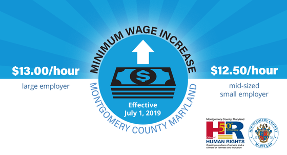 Montgomery County Minimum Wage Increases on July 1