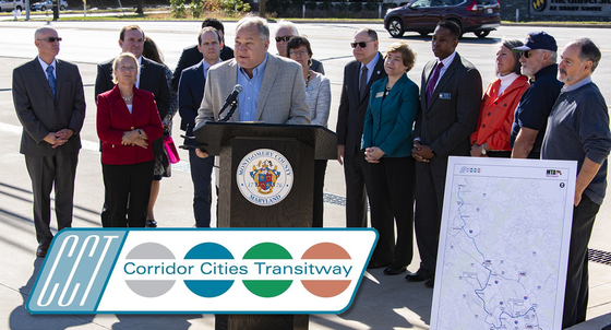County Executive Elrich Leads Officials in Urging State to Return CCT to Maryland's Long-term Transportation Plan