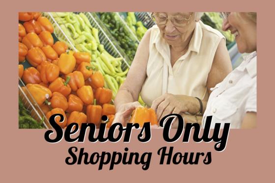 seniors only shopping hours