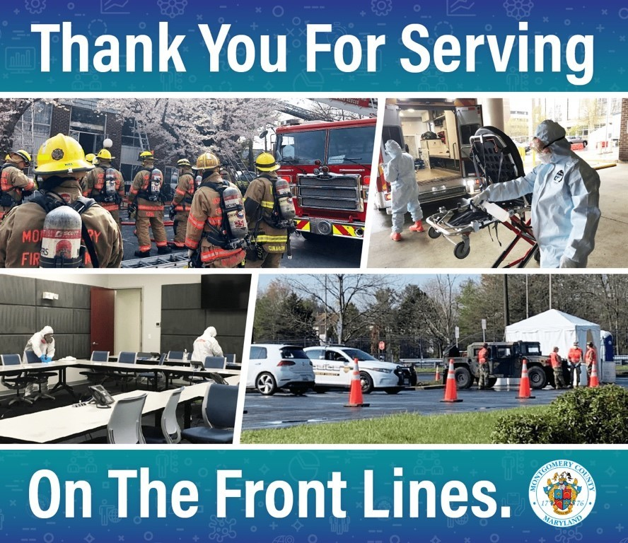 thank you for serving on the front lines