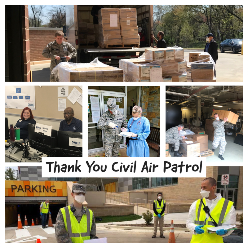 Civil Air Patrol Volunteers Aid the County