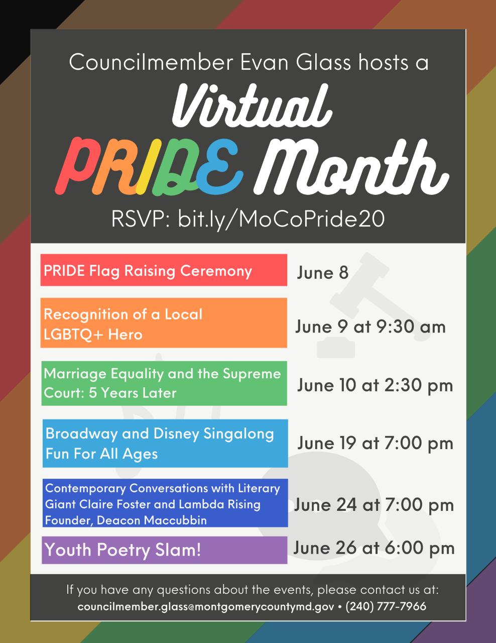 Virtual Pride Month Activities