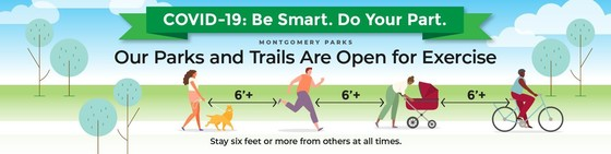 our parks and trails are open for exercise