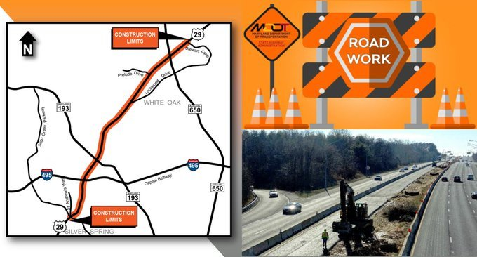 New Major Projects on I-495 and US Route 29 Will Have Significant Impact on County Traffic; I-270 South Project to Continue Throughout Summer