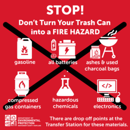 Stop! don't turn your trash can into a fire hazard