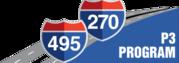 I-270 I-495 P3 logo
