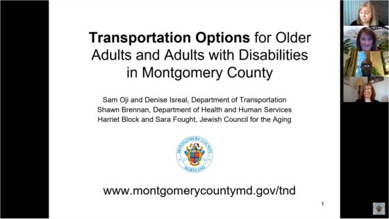County Session on Transportation Options for Older Adults and Adults with Disabilities Now Viewable Online