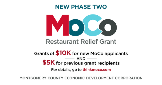 new phase two MoCo restaurant relief grant
