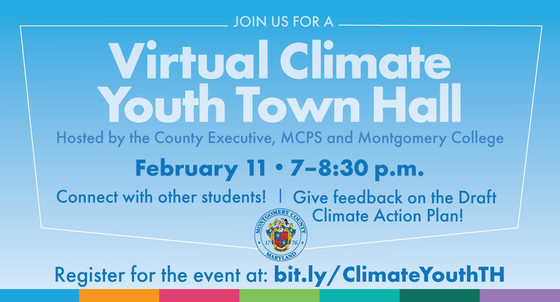 Virtual Climate Youth Town Hall on Thursday, Feb. 11
