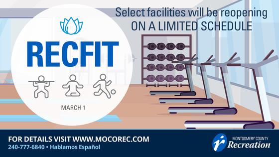 recfit reopening