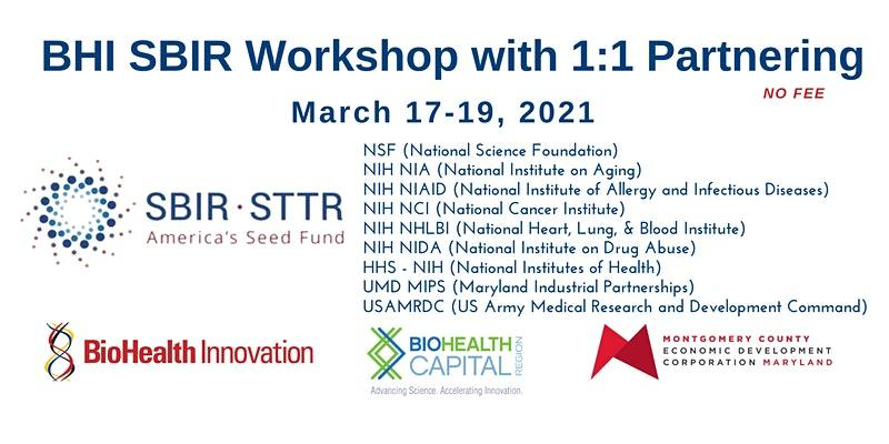 Three-Day Virtual Free SBIR Workshop March 17-19 Will Help Entrepreneurs Learn About Funding Opportunities