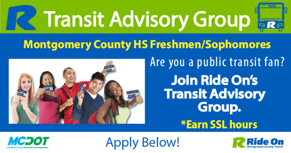Applicants Sought for Ride On Transit Advisory Group
