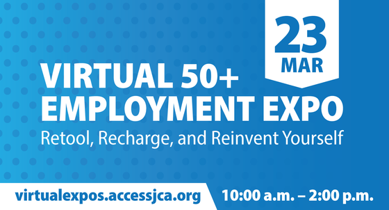 JCA and County to Hold Free Virtual Employment Expo for Job Seekers 50 and Over on Tuesday, March 23