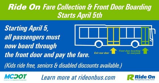 County Bus resume front door boarding