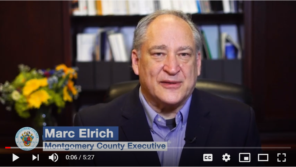 message from County Executive Mare Elrich
