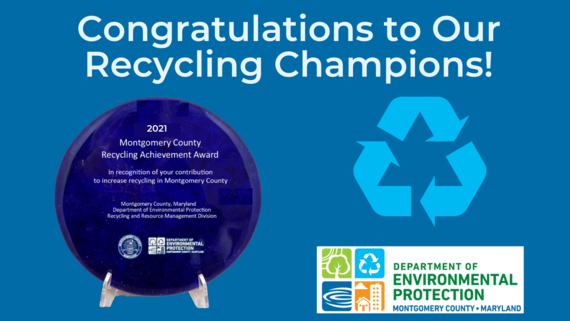 County Announces Recipients of 2021 Recycling Achievement Recognition