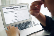 unemployment application through laptop