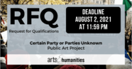 Request for Qualifications for Public Art Exhibition