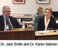 Dr. Jack Smith and Dr. Karen B. Salmon