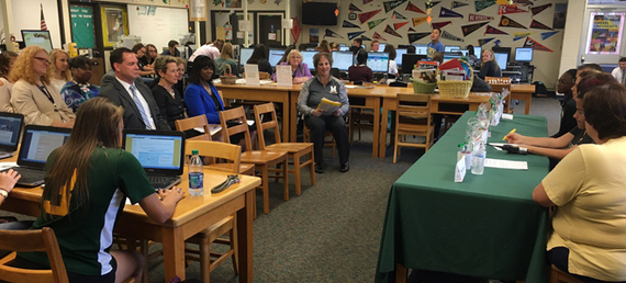 State Superintendent Salmon visited Mardela Middle and High School in Wicomico County to help promote the Maryland College Admissions Campaign.