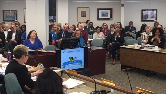 Educators filled the State Board of Education meeting room this week as the latest Blue Ribbon Schools were announced.