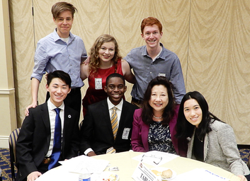 Image: Reps. from the MD Association of Student Councils (MASC) meet with MD Delegates during the MASC School Safety Forum.