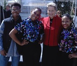 Image Dr. Salmon with Students at Best of Maryland Arts Education Festival