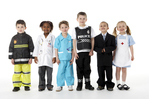 Image children dressed up in work clothing