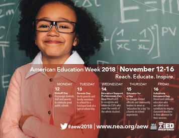 National Education Week Calendar