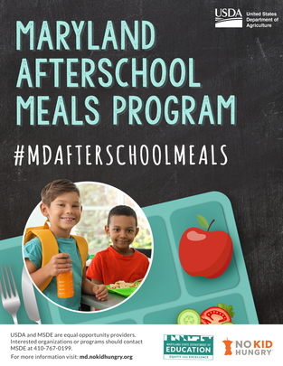 Image of Maryland Afterschool Meals program LOGO