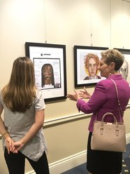 Image of student artwork from First Lady Yumi Hogan's Spring Art Display