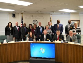Image of State Board honoring Maryland Principals of the Year